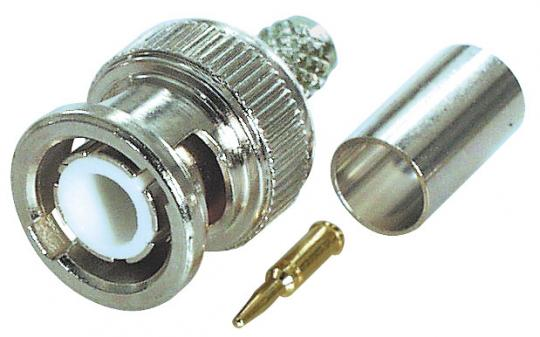 BNC Stecker Crimp Version für Kabel RG 58 U - Ø 5,0 mm