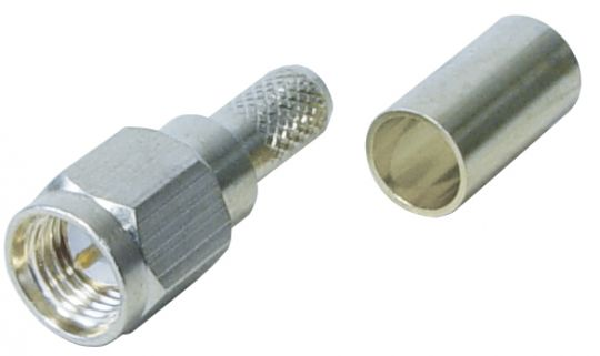 SMA Stecker Crimp Version für RG174
